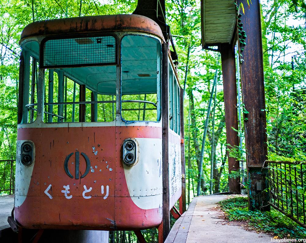 abandoned Japanese cable car