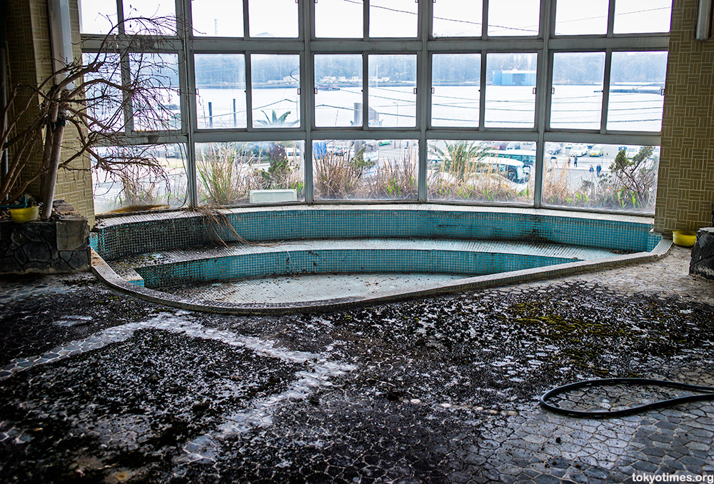 abandoned Japanese seaside hotel