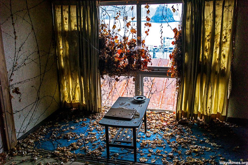 abandoned Japanese seaside hotel