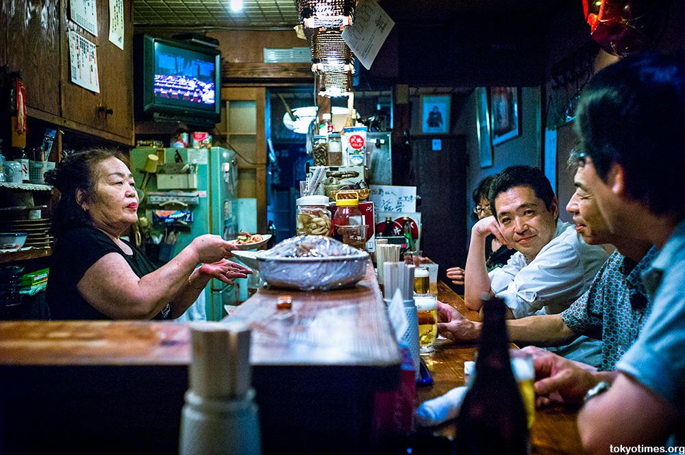 old and small Tokyo bar Mama-san