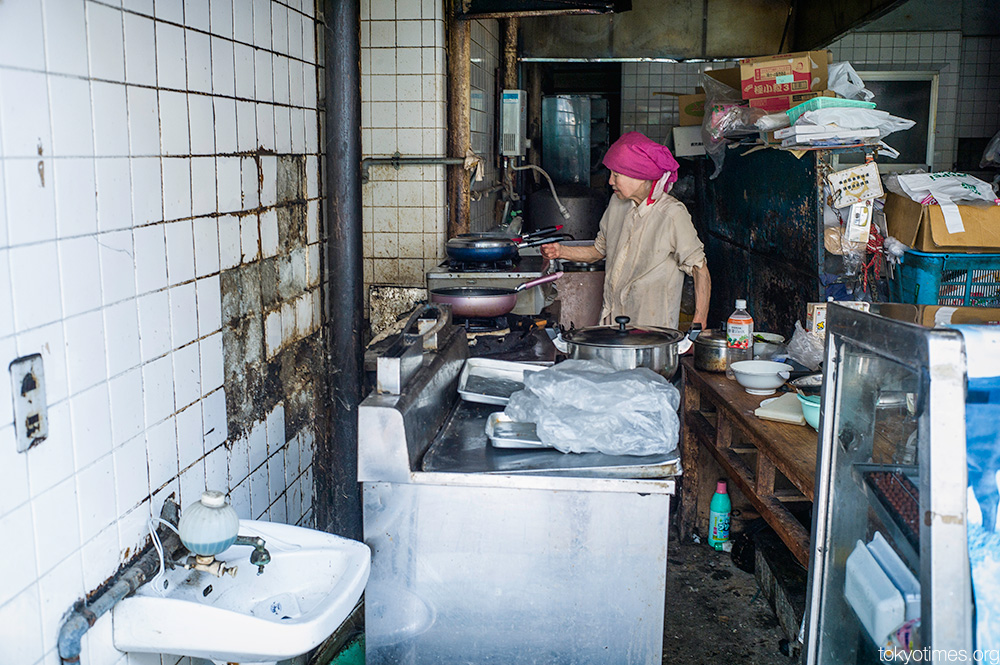 Tokyo's dirtiest most dilapidated kitchen