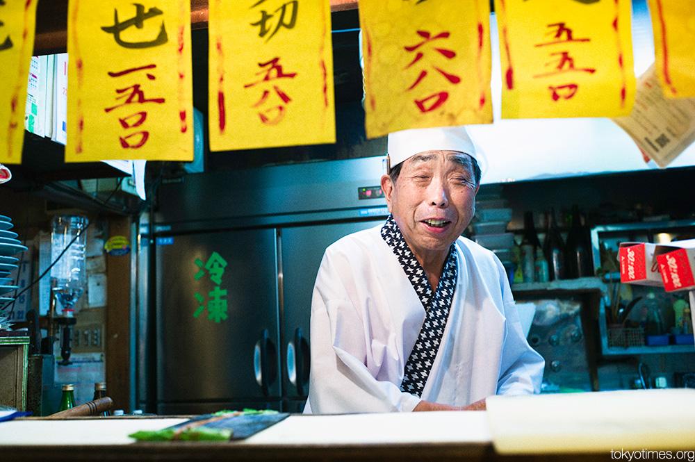 old Tokyo bar owner portrait