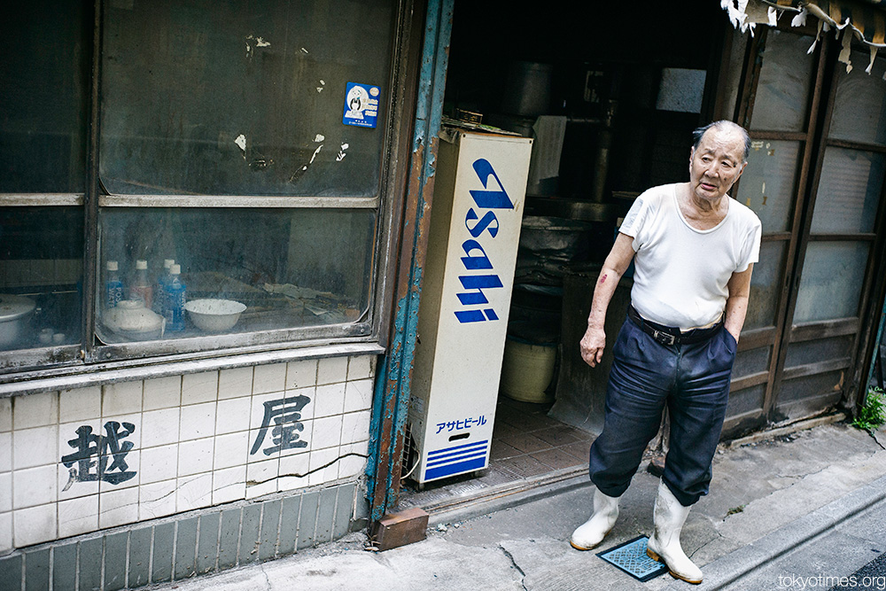 old Tokyo shop and old shopkeeper