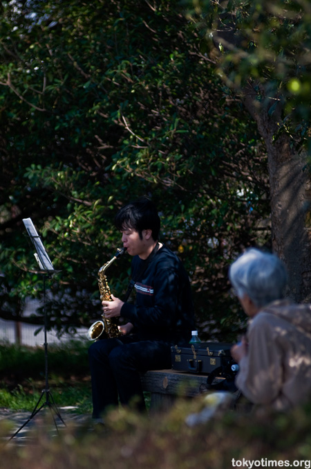 Japanese saxophone player