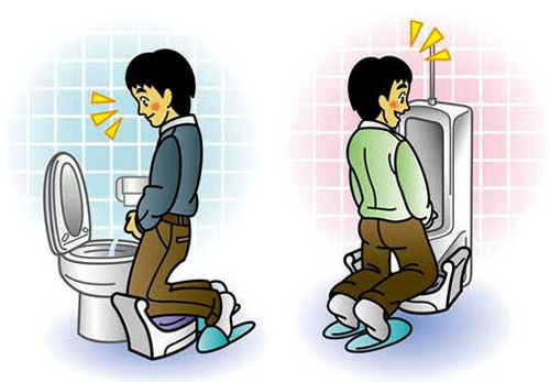 Japanese peeing pillow