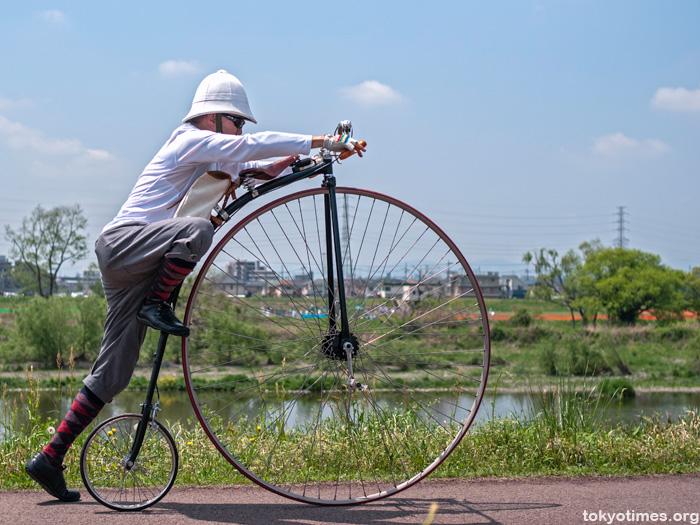 Japanese penny farthing rider