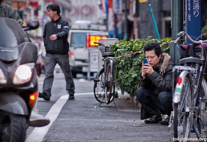 Tokyo phone user