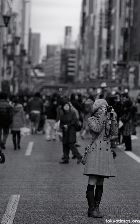 Japanese girl in Ginza