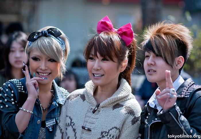 transexual Haruna Ai collecting money for earthquake victims in Shibuya