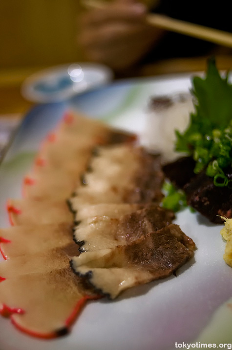 raw whale meat