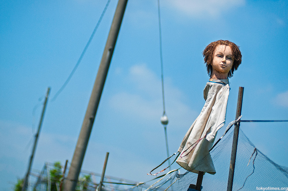 realistic Japanese scarecrows