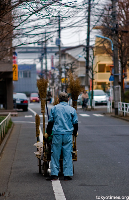 Japanese road sweeper