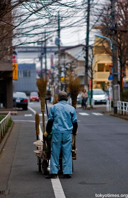 Japanese road sweeper