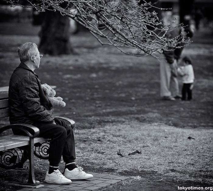 A sad old Japanese man