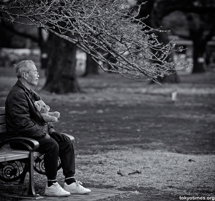 A sad old Japanese man