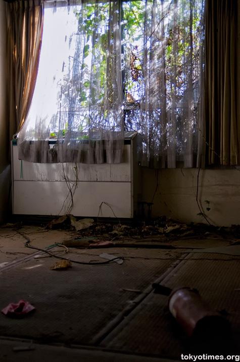 abandoned Japanese building