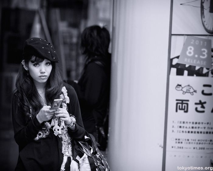 Shibuya girl in black and white