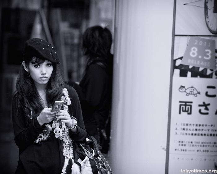 Shibuya girl in black and white