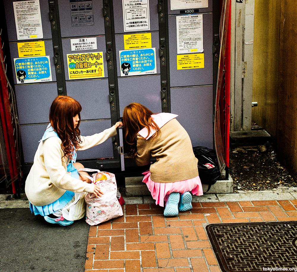 Japanese schoolgirl red light district