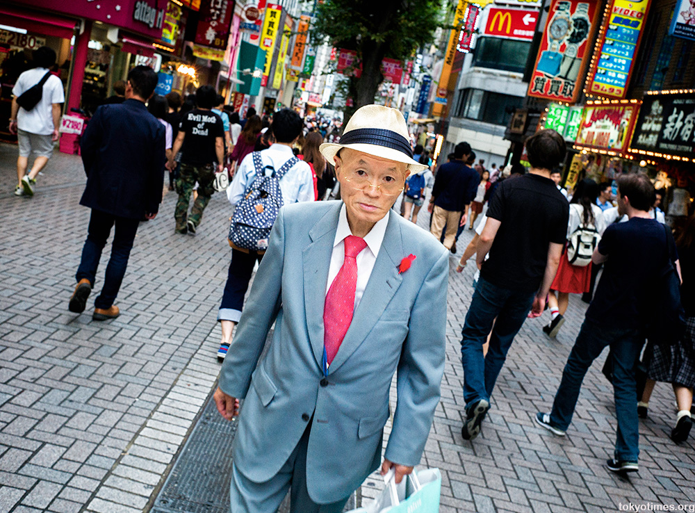 sharp and dapper man in Shinjuku