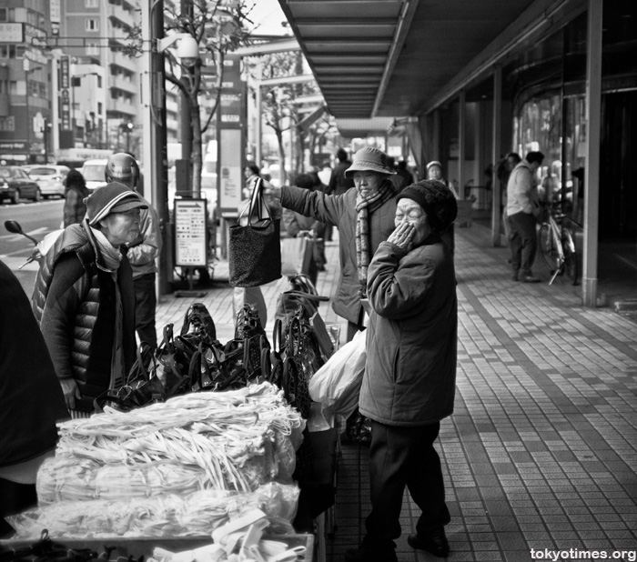 Japanese old ladies shopping