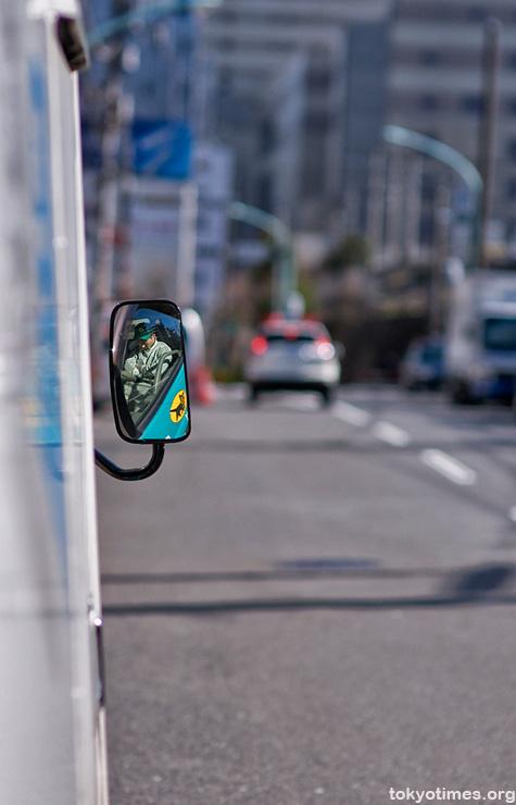Japanese driver sleeping