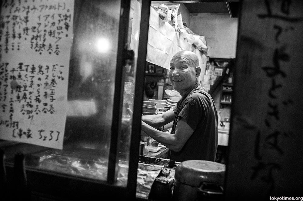 Tokyo bar owner smile