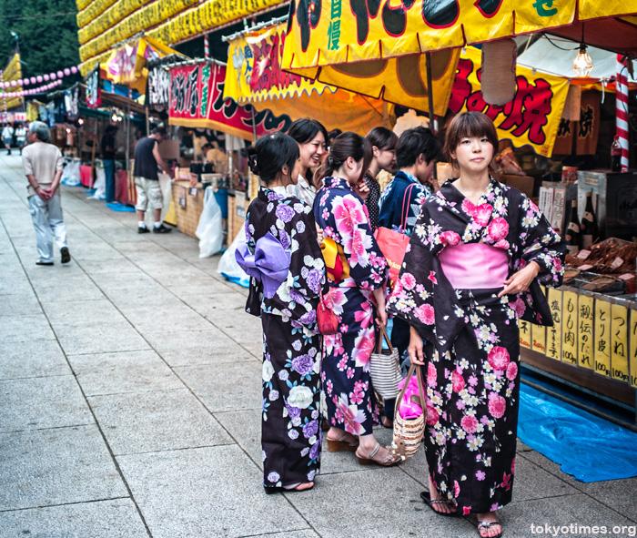 Japanese summer yukata