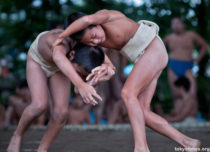 Trainee sumo wrestlers