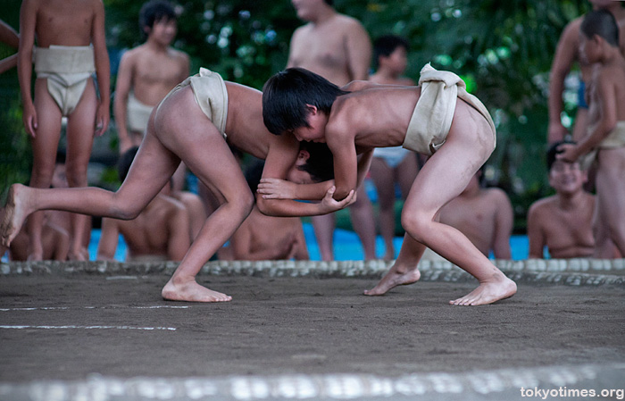 Trainee sumo wrestlers