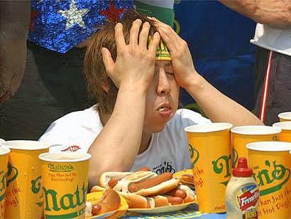 Japanese eating champion takeru kobayashi