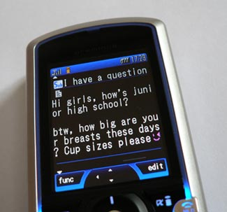rude text message