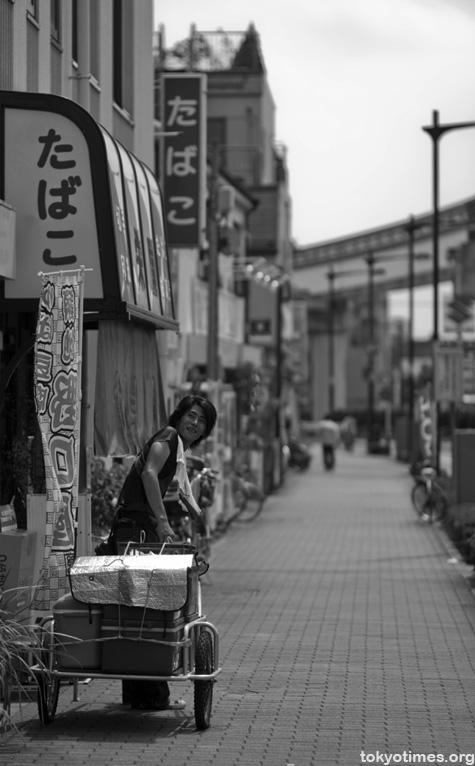 Japanese tofu salesman