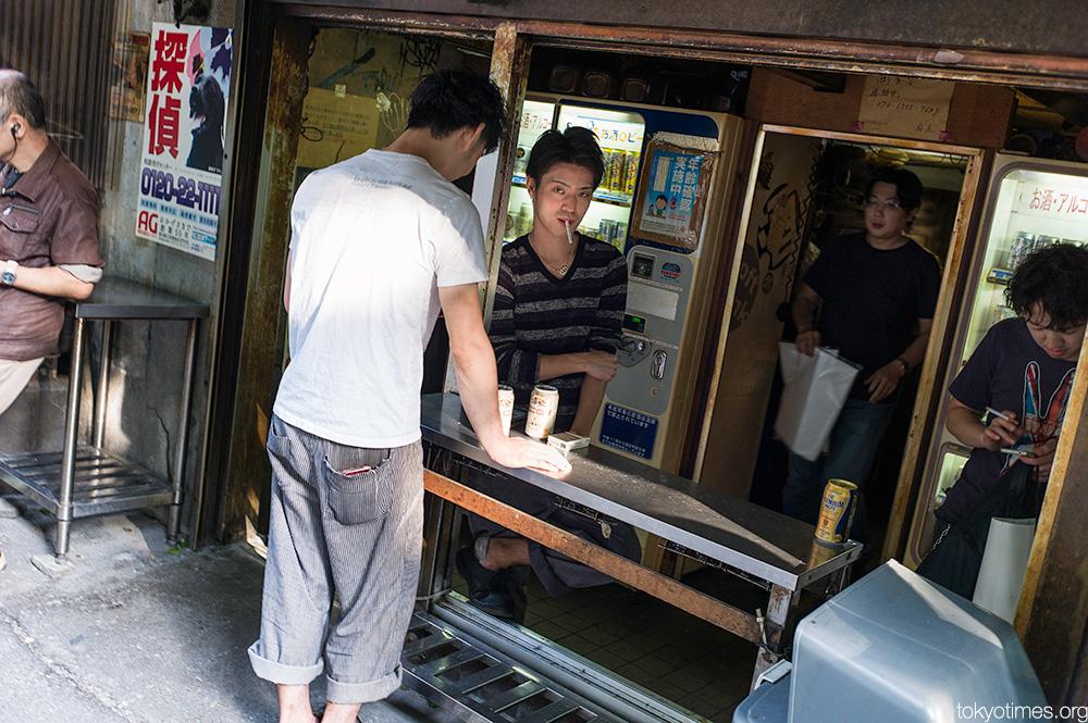 Under the tracks Tokyo beers