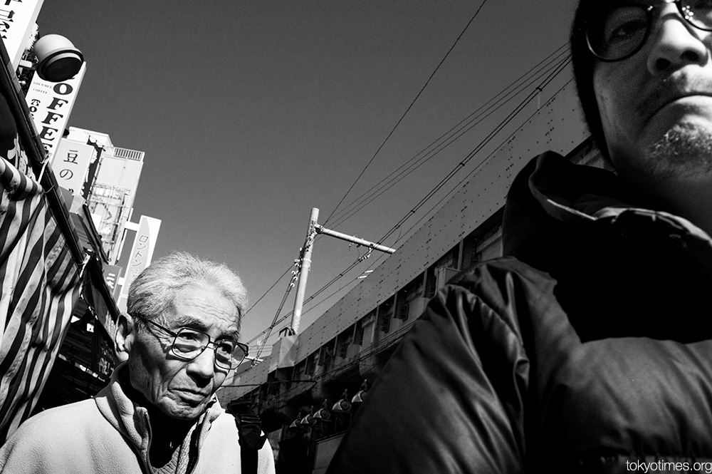 Tokyo by the train tracks