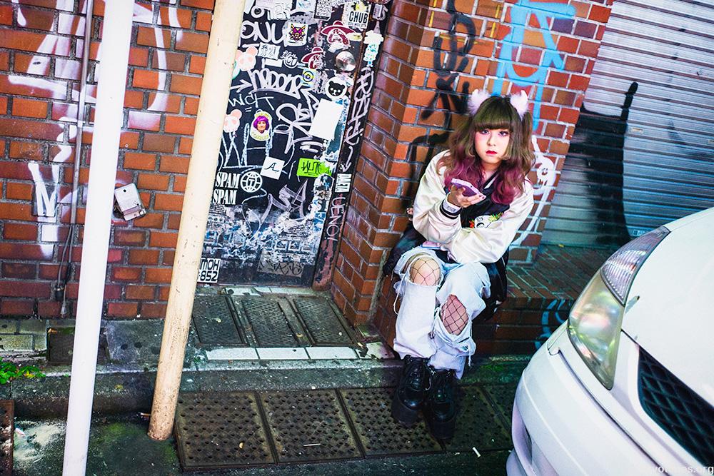 Tokyo graffiti girl