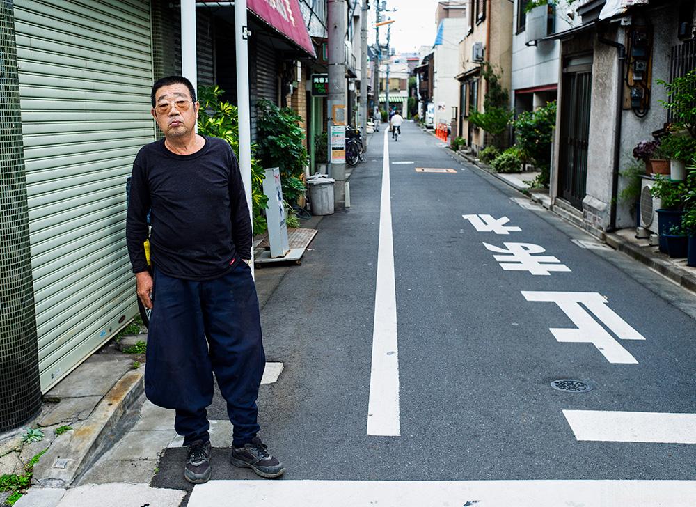 Tokyo hard man stares