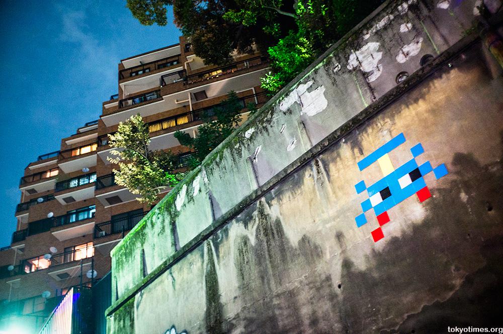 Tokyo invader urban art
