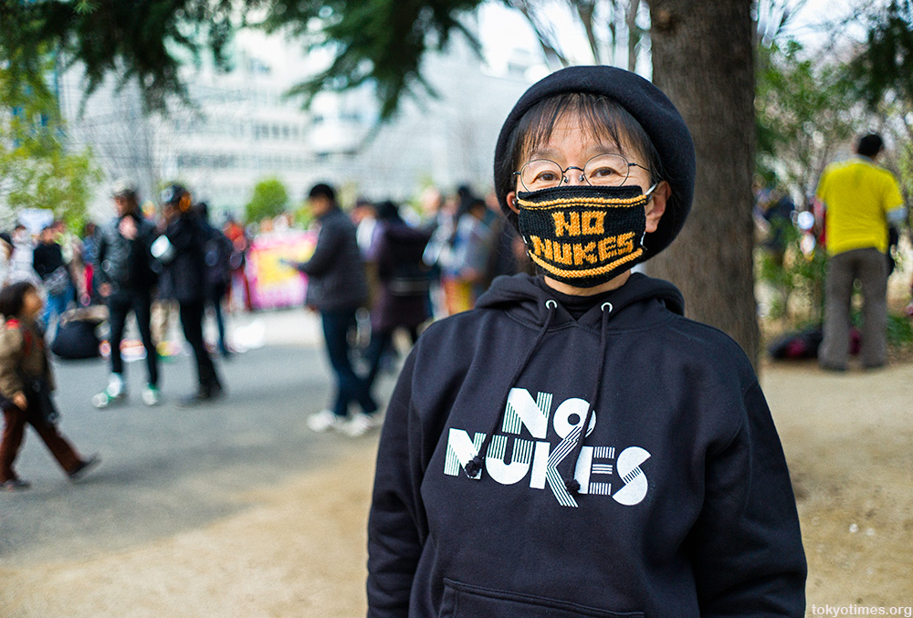 Japanese anti-nuclear protestor