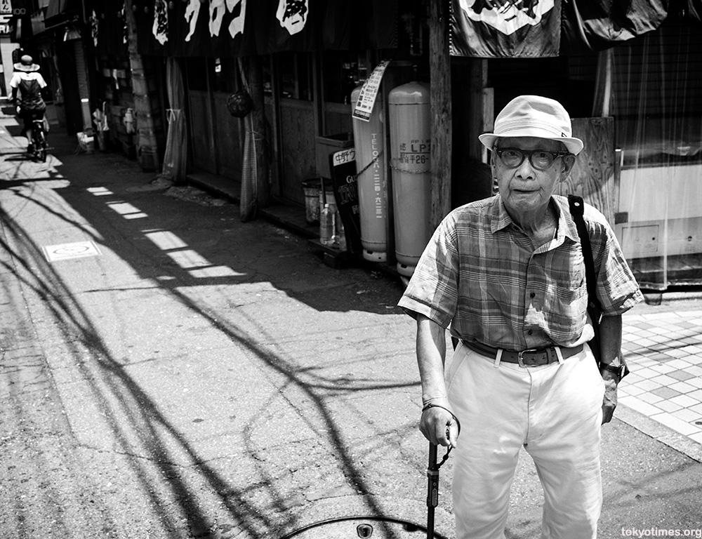 old Japanese man in the sun