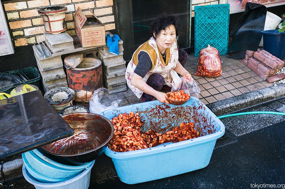 Outdoor Tokyo street kitchen