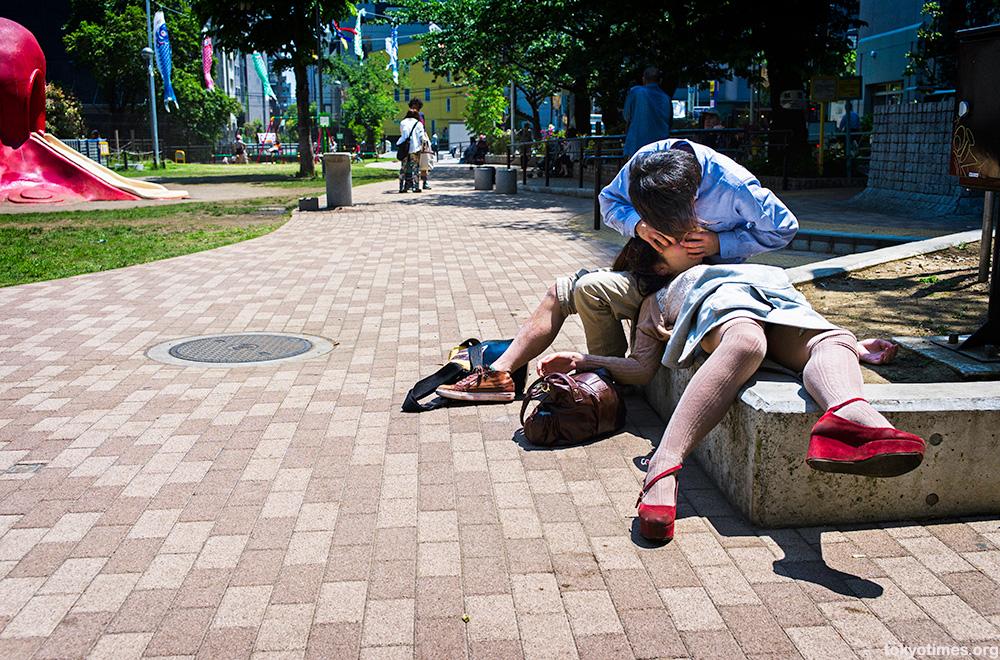 Japanese girl unconscious