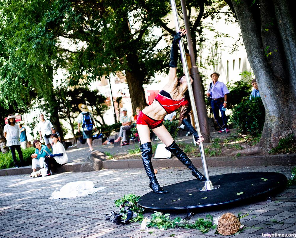 Japanese pole dancer