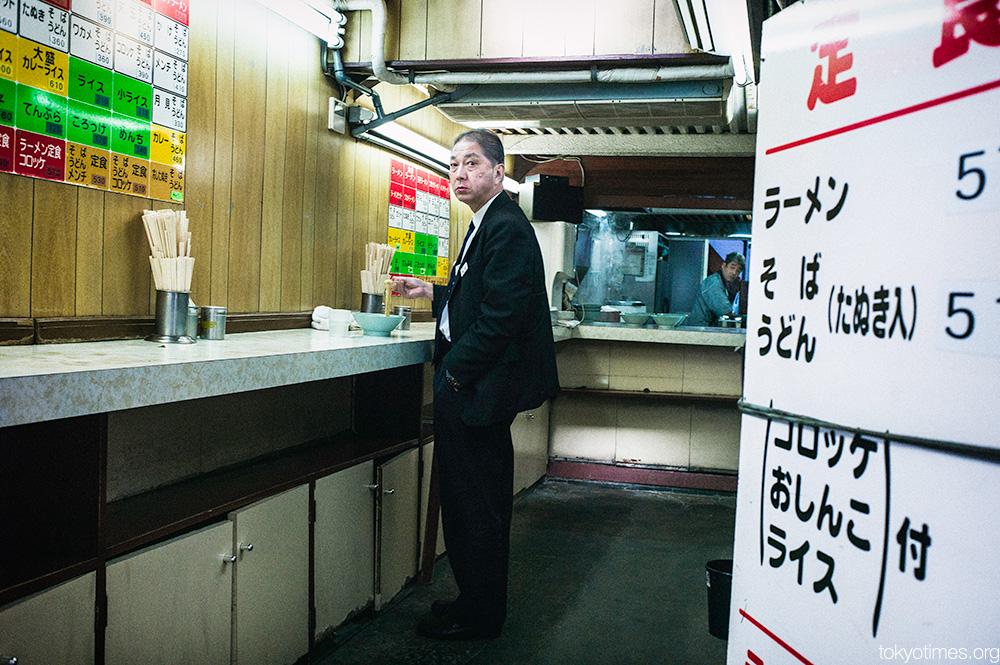 Tokyo ramen shop stares
