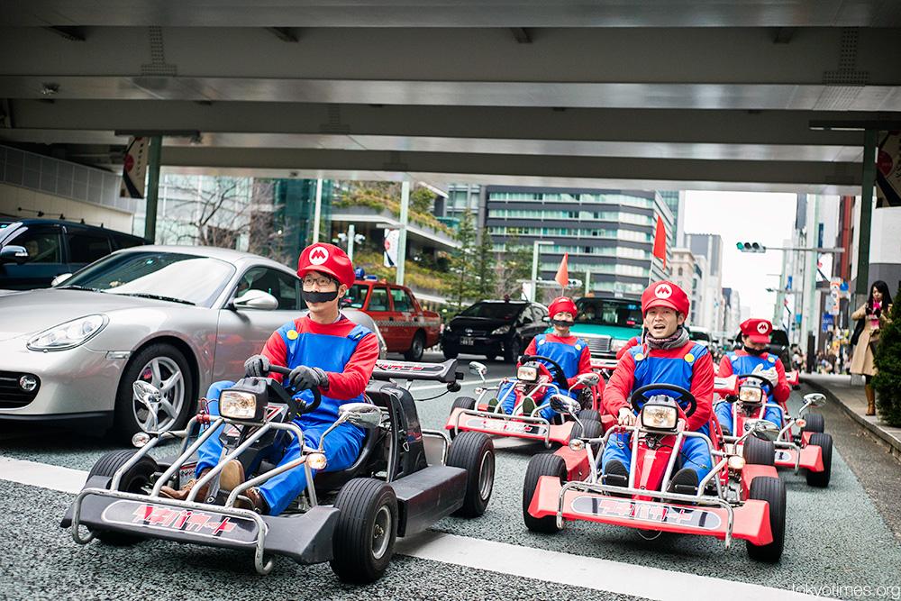 Tokyo real-life Mario Kart