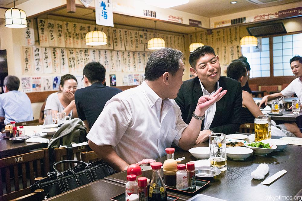 Japanese salaryman-style business and pleasure