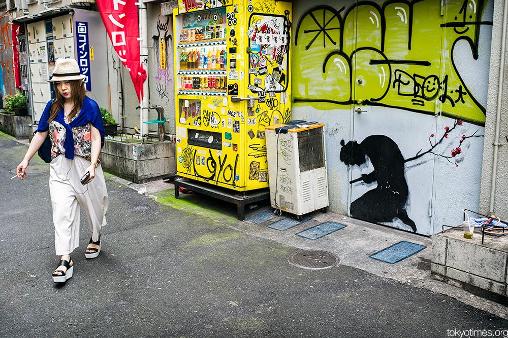 Tokyo seppuku street art