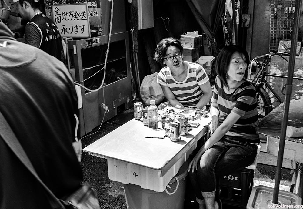 Tokyo street food and drinks
