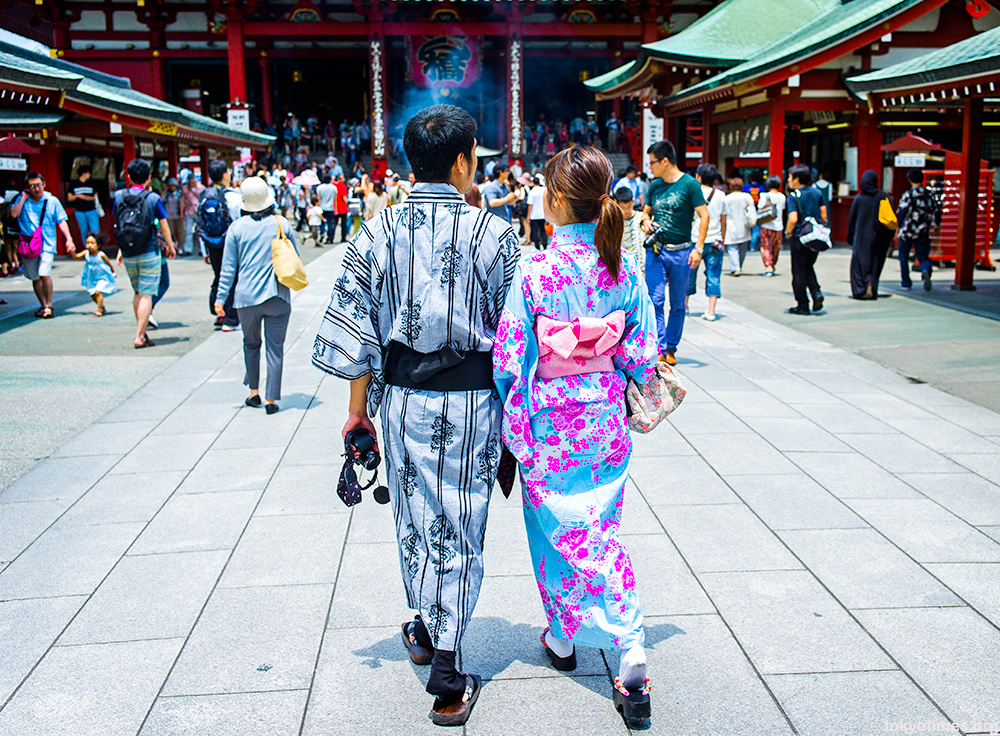 Japanese summer kimono