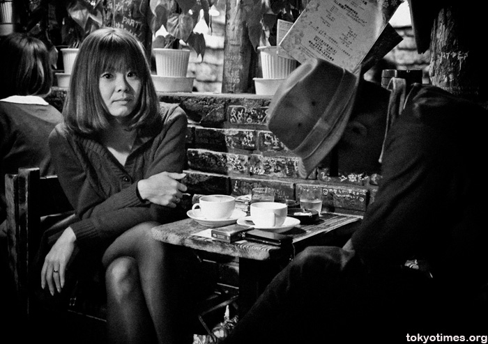 Japanese coffee shop woman